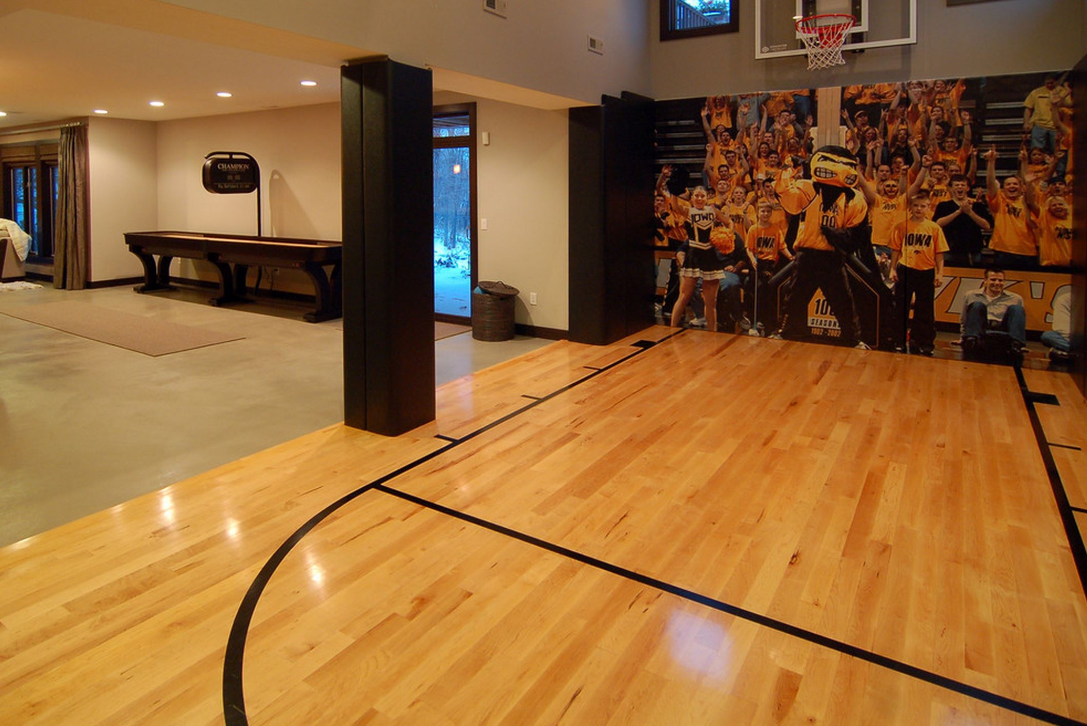 Indoor outdoor basketball courts elizabeth erin designs for Custom indoor basketball court