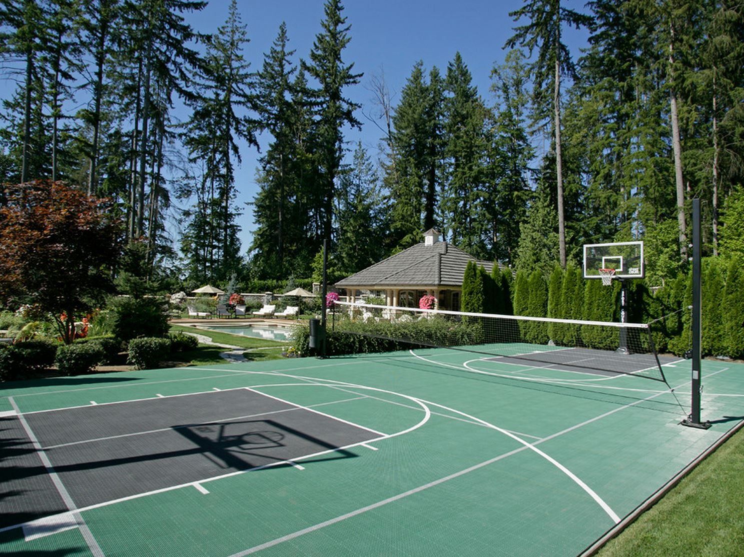 indoor outdoor basketball courts elizabeth erin designs