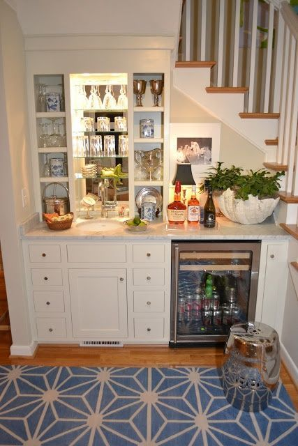 Basement bar elizabeth erin designs for Dining room under stairs
