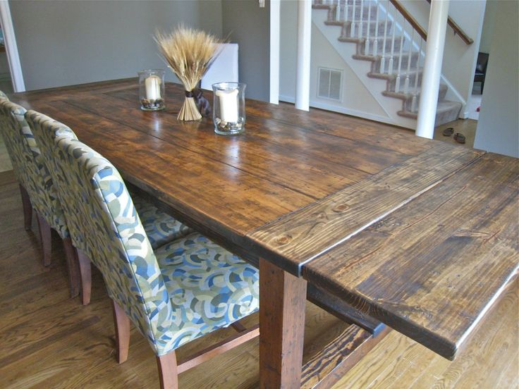 Rustic Dining Room Table With Leaf Best Dining Room