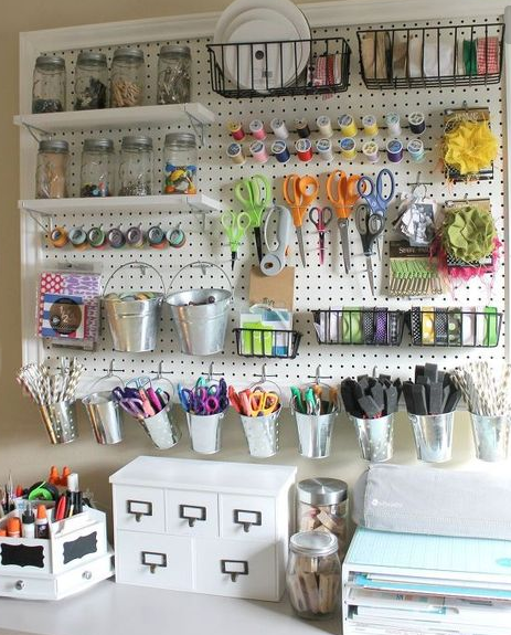Craft room ideas elizabeth erin designs - Small craft space ideas plan ...