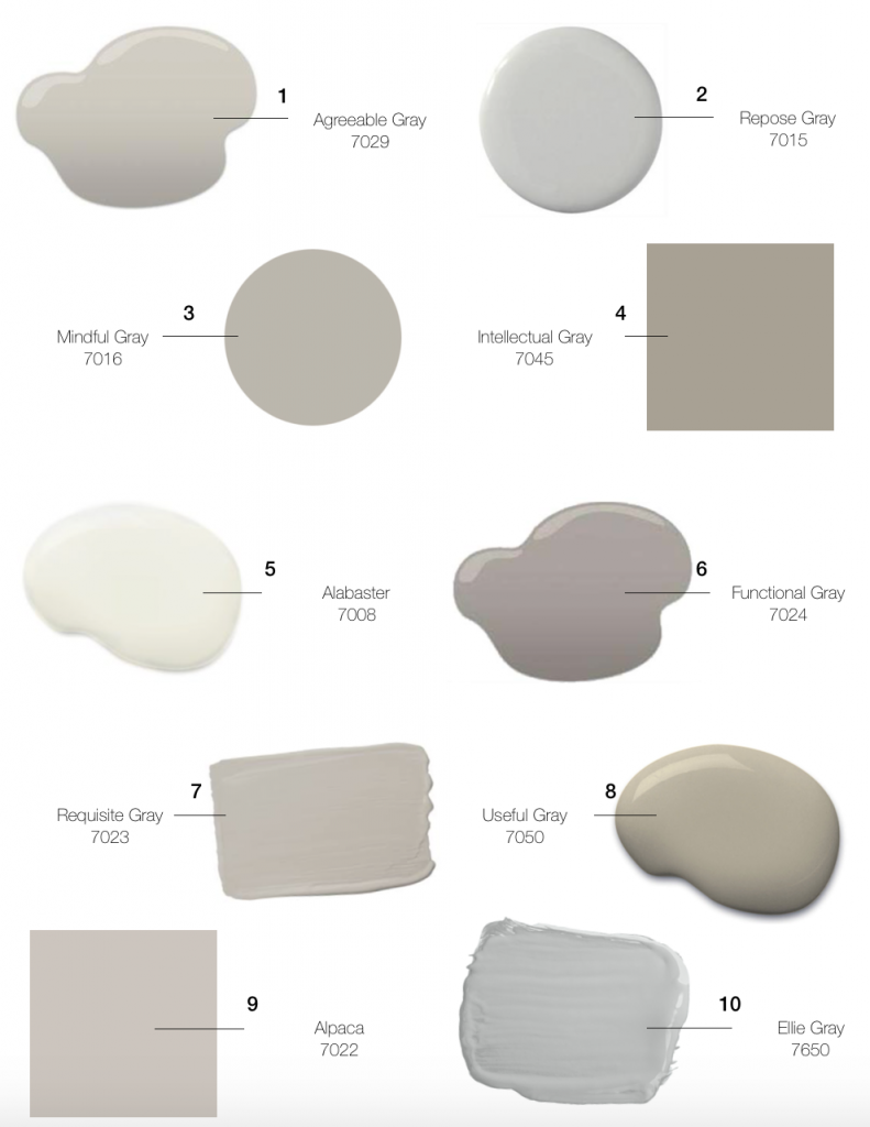Today we wanted to share some of our favorite go to shades from sherwin williams so you could get some inspiration and try some new colors if you are